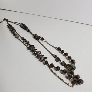 Lia Sophia Two Tiered Layered Necklace